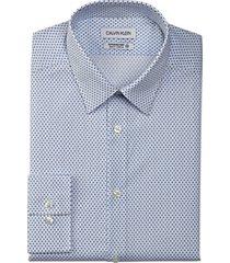 calvin klein infinite slim fit dress shirt cornflower