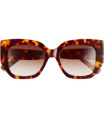 women's diff x uncommon james by kristin cavallari 52mm butterfly sunglasses - tortoise/ brown gradient