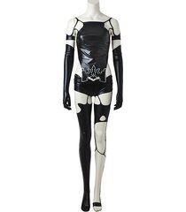 nier automata yorha 2b a2 jumpsuit cosplay costume battle suit outfit for women