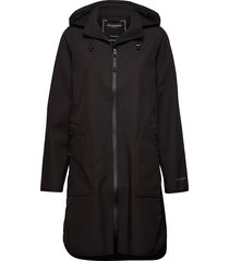 raincoat parka lange jas jas zwart ilse jacobsen