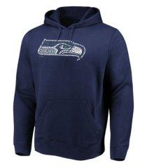 majestic seattle seahawks men's distressed logo hoodie