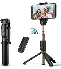 universal extensible bluetooth monopod selfie stick trípode-negro