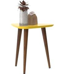mesa de apoio retrô valentina - amarela - ej móveis