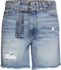 overwashed denim shorts denim shorts blå ganni