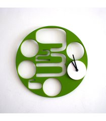 reloj de pared - iwanna - cyrus - verde