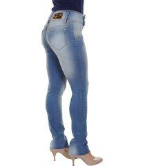 calça jeans bazz transpassada lixada azul