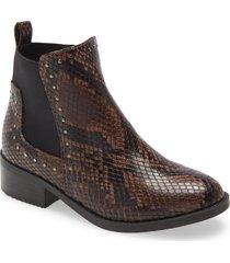 girl's steve madden kids' case boot, size 5 m - brown