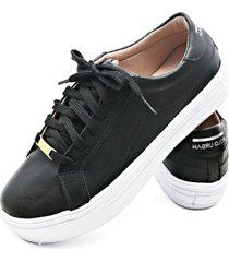 sapatenis feminino calçados gb polo urban preto