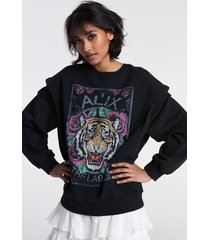 alix the label 2107893048 ladies knitted cotton tiger sweater