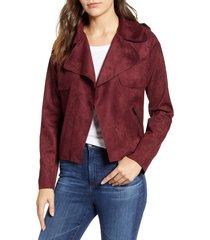 women's kut from the kloth jacee draped moto jacket, size x-small - burgundy