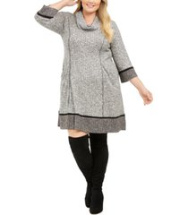 robbie bee plus size cowl-neck sweater dress