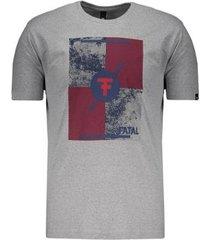 camiseta fatal geométrica masculina