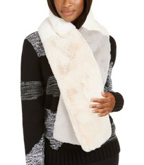 inc colorblocked faux-fur muffler scarf, created for macy's