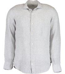 melange linen shirt