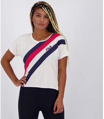camiseta fila macro stripe feminina - feminino