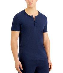 alfani men's quick-dry split neck pajama t-shirt, created for macy's