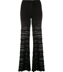 amiri ribbed flared trousers - black