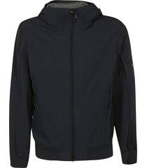 c.p. company short zipped hoodie