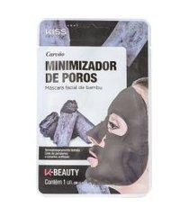 kiss new york carvão minimizador de poros máscara facial 20ml