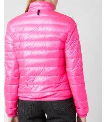 mackage women's elena short jacket - fuchsia - l