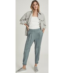 reiss marlow - pleat front tapered pants in, womens, size 14