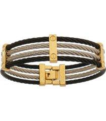 bracelete de aço inox tudo joias 3 cores com 15mm de largura