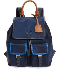 tory burch perry nylon backpack - blue