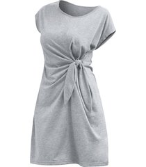 cap sleeve knotted waist mini sheath dress