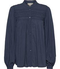 cara blouse blouse lange mouwen blauw lollys laundry