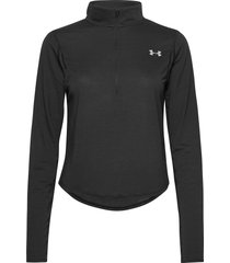 ua streaker 2.0 half zip t-shirts & tops long-sleeved zwart under armour