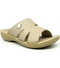 sandalia beige euro confort