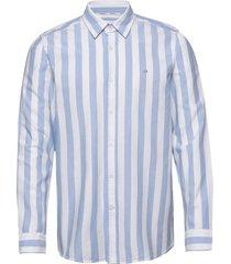 cotton oxford stripe overhemd casual blauw calvin klein