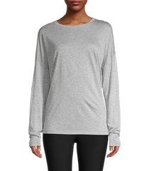 vince women's dropped-shoulder t-shirt - heather grey - size l