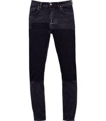 acne studios black 1996 patch jeans