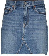 high rise denim mini skirt kort kjol blå gap