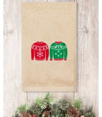 linum home christmas sweaters embroidered 100% turkish cotton hand towel bedding