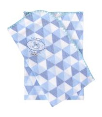 cobertor minasrey bordado com caixa muito mimo azul