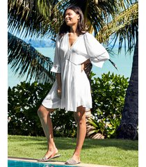 icon milan long sleeve kaftan ladder dress