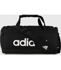 maletín negro-blanco adidas performance essentials logo 25l