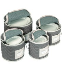 richards homewares china storage deluxe plate case set of 4