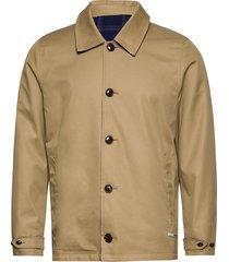 clean reversible organic cotton coach jacket trenchcoat lange jas beige scotch & soda