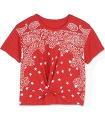 lucky brand bandana twist-front top