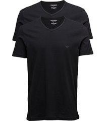 mens knit 2pack tsh t-shirts short-sleeved svart emporio armani