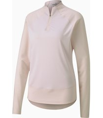 mesh golftrui voor dames, roze, maat xxl | puma