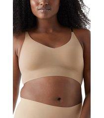 women's true & co. true body lift triangle bra, size x-large - beige