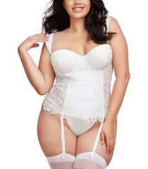dreamgirl plus size satin euro strap bustier