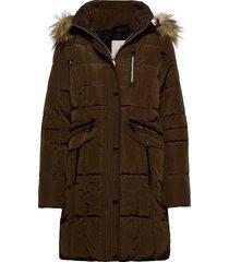 coat outerwear heavy parka lange jas jas bruin brandtex