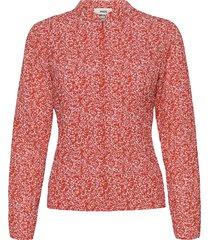 bumpy flower bossa blouse lange mouwen rood mads nørgaard