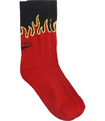 vetements socks in red cotton