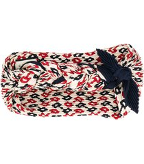 gucci printed knotted headband - neutrals